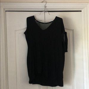 Tahari professional Black blouse